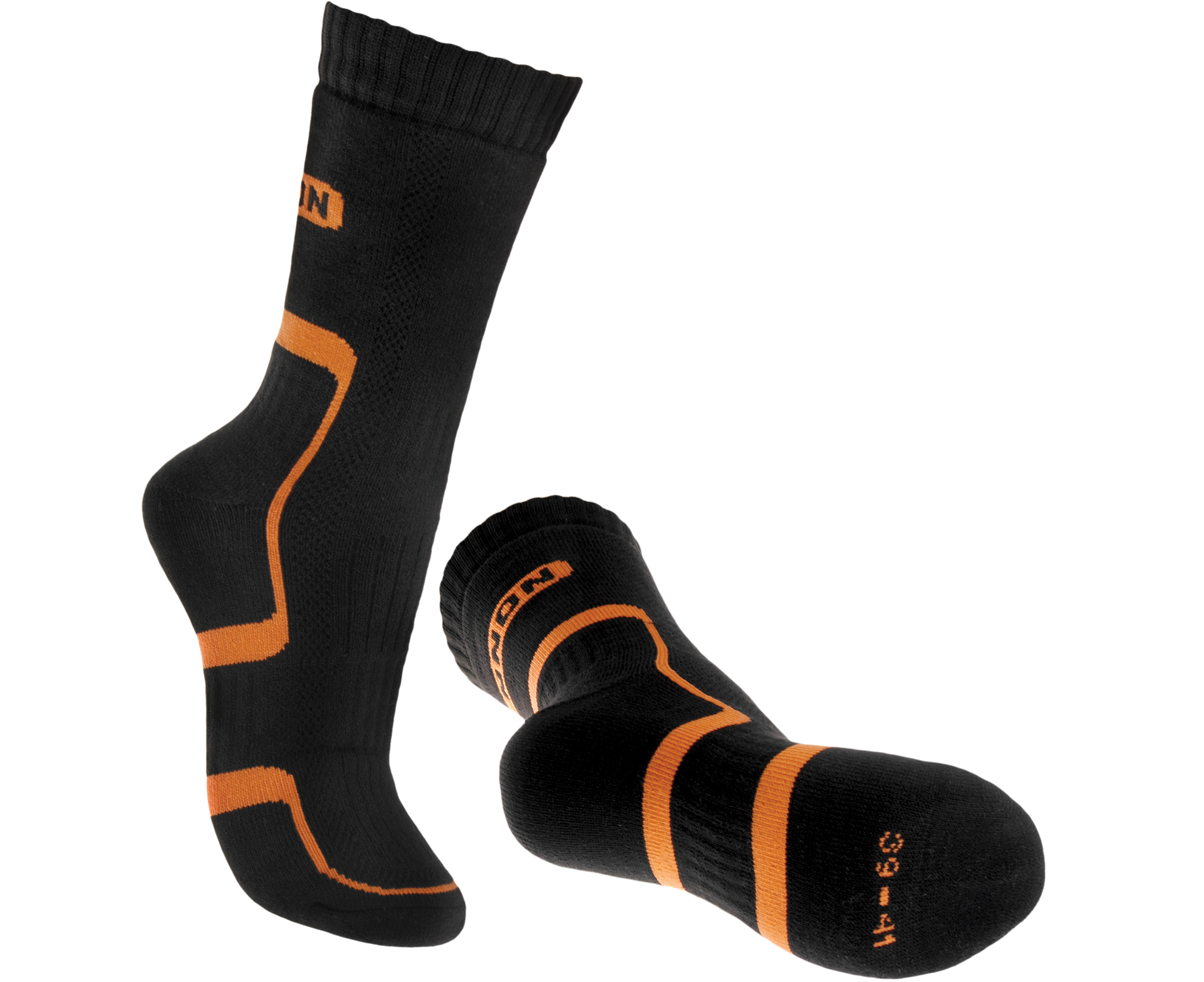 BENNON - BNN TREK SOCK BLACK-ORANGE