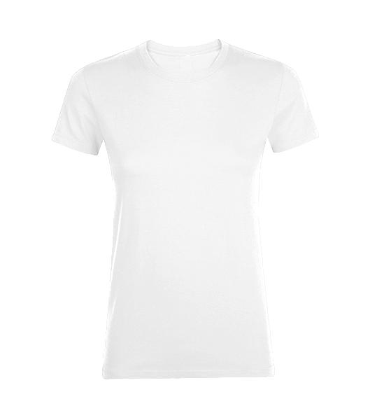 f5453e6f765e ALEX FOX biele a čierne dámske bavlnené tričko 130 CLASSIC s krátkym rukávom
