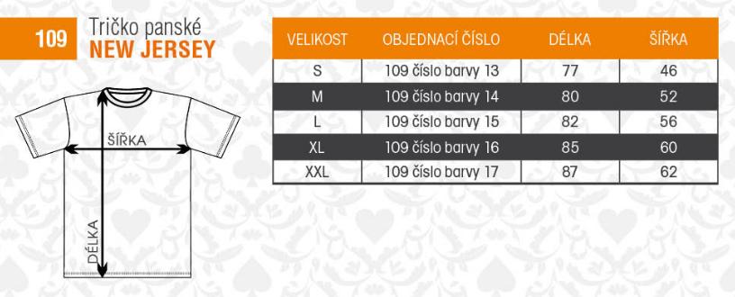 f65dc9e43 ALEX FOX pánske predĺžené bavlnené tričko NEW JERSEY 109 s krátkym ruk